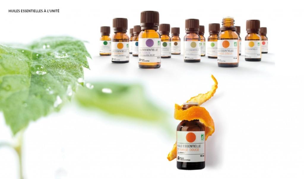Charte graphique packaging huiles essentielles nature et for Cuisine nature et decouverte