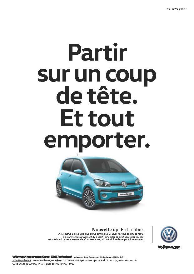 Volkswagen Up! - Campagne d'affichage - Volkswagen - agence DDB Paris