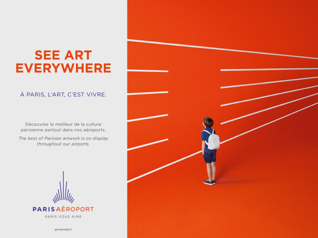 Paris vous aime campagne TV et affichage Groupe ADP