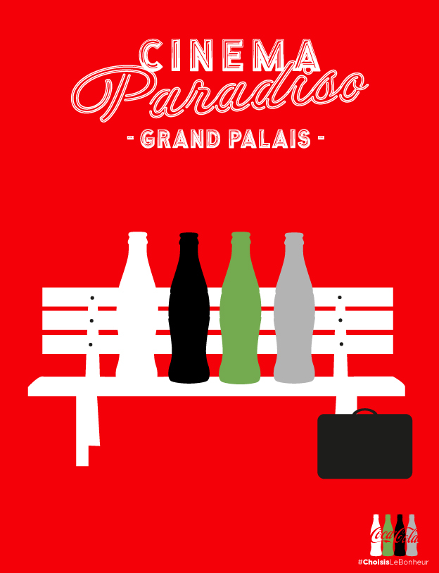campagne d 39 affichage pour cin ma paradiso au grand palais coca cola agence rosbeef. Black Bedroom Furniture Sets. Home Design Ideas