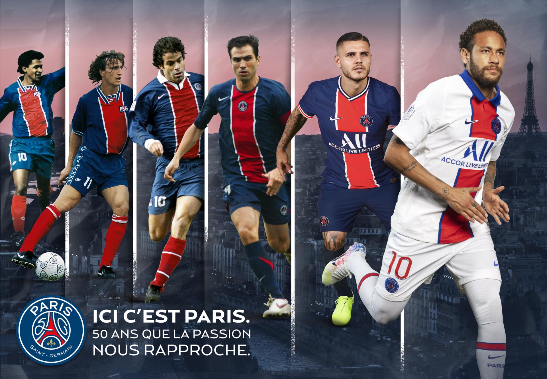 Campagne 50 Ans Du Paris Saint Germain Psg Paris Saint Germain Agence Rosbeef