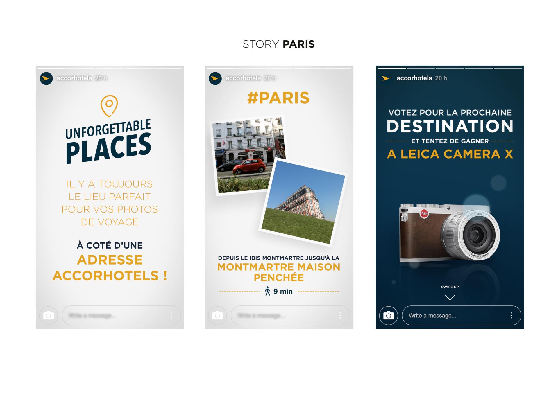 """Résultats de recherche d'images pour «stories instagram AccorHotels avec """"Unforgettable Places"""",»"""